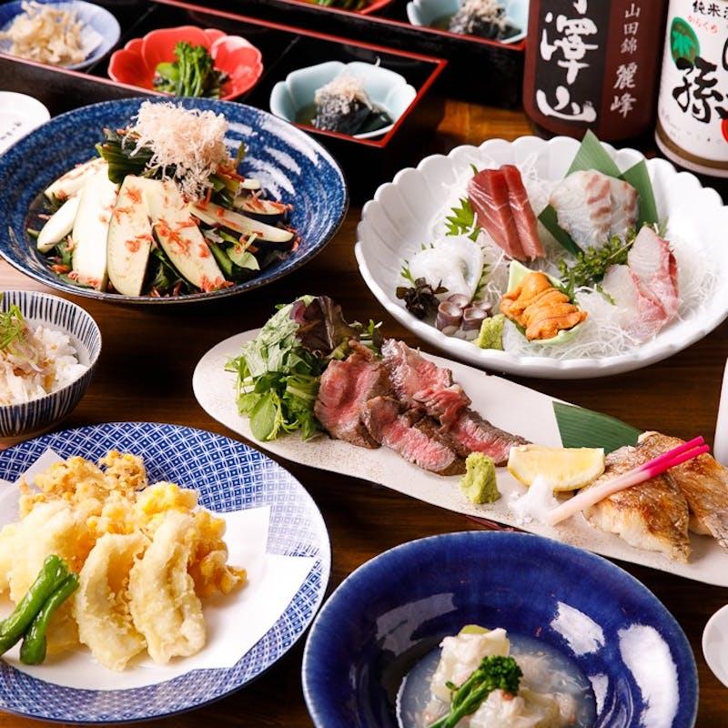 【かねさくコース】造里・焼物・煮物・揚物等全7品