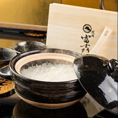 当店おすすめの土鍋御飯