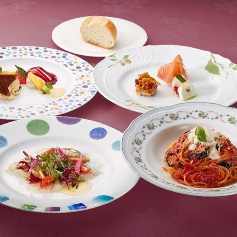 【ノルマーレ】前菜3種盛り、カルパッチョ、選べるパスタ、デザートなど全4品+1ドリンク