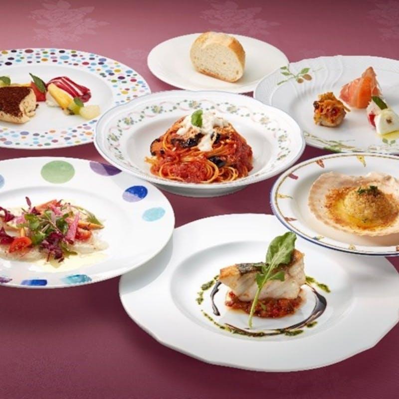 【メディオコース】前菜3種盛り合わせ、選べるパスタ、メイン料理、デザートなど全7品+1ドリンク