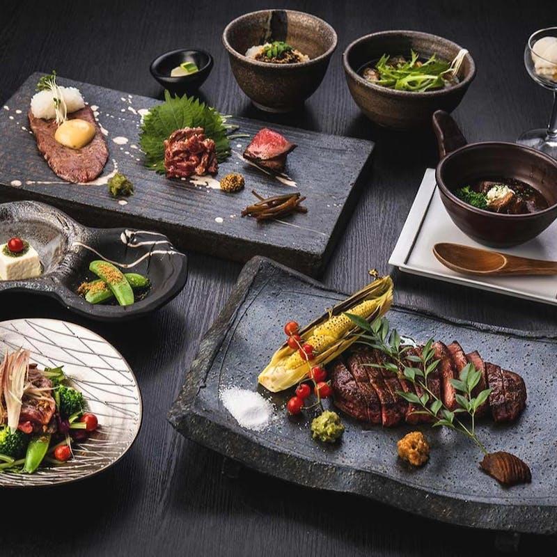 【贅沢】肉前菜3種、ビーフシチュー、ステーキ120g、焼野菜など全7品(リクエスト予約)