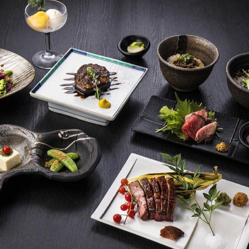 【鉄板】ローストビーフ、サラダ、神戸ビーフステーキ&ハンバーグなど全6品(個室確約・リクエスト予約)