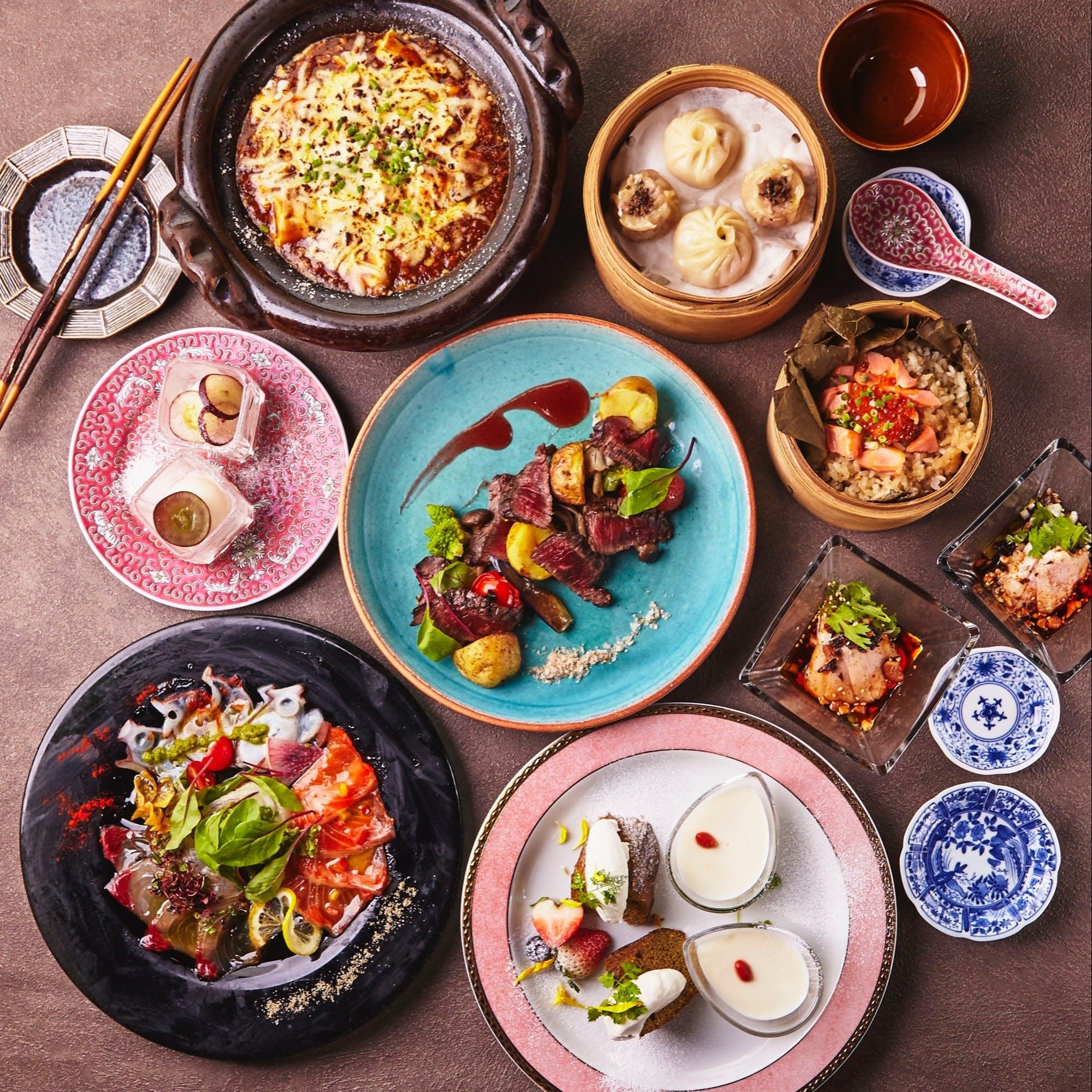 斬新な食材選びや盛り付けのモダン中華