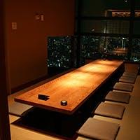 和と洋を上品に融合させた数奇屋モダン建築の個室