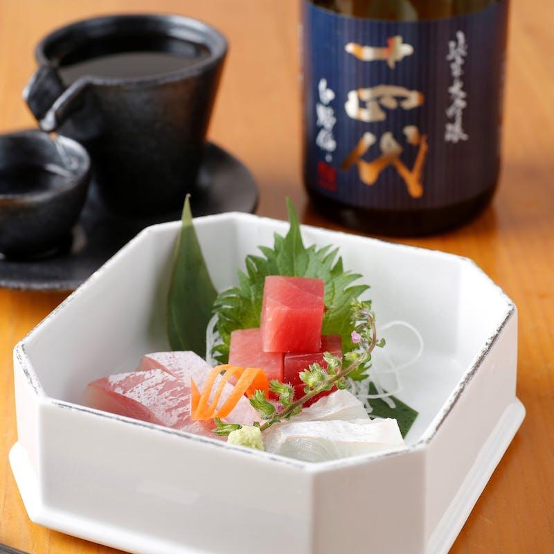 ご接待に人気!神保町で季節の高級食材と愉しむ!全9品「和食日和会席」+自家製日本酒スパークリング付