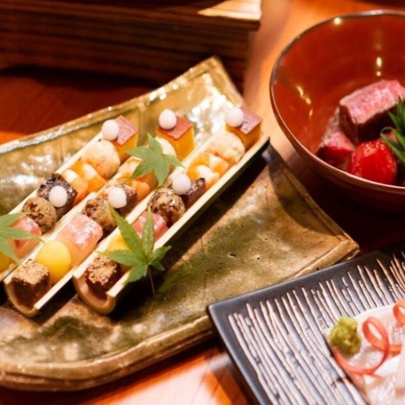 【おとなり栩栩膳】甘味食べ放題!フォアグラやシャトーブリアンなどを使用した和洋折衷の贅沢コース全9品