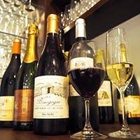 季節に合わせて常時30種類以上のワインをご用意