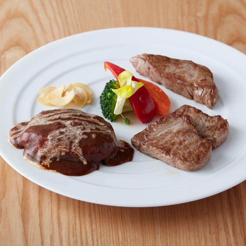 【鉄板焼】 肉三昧セット+選べる1ドリンク