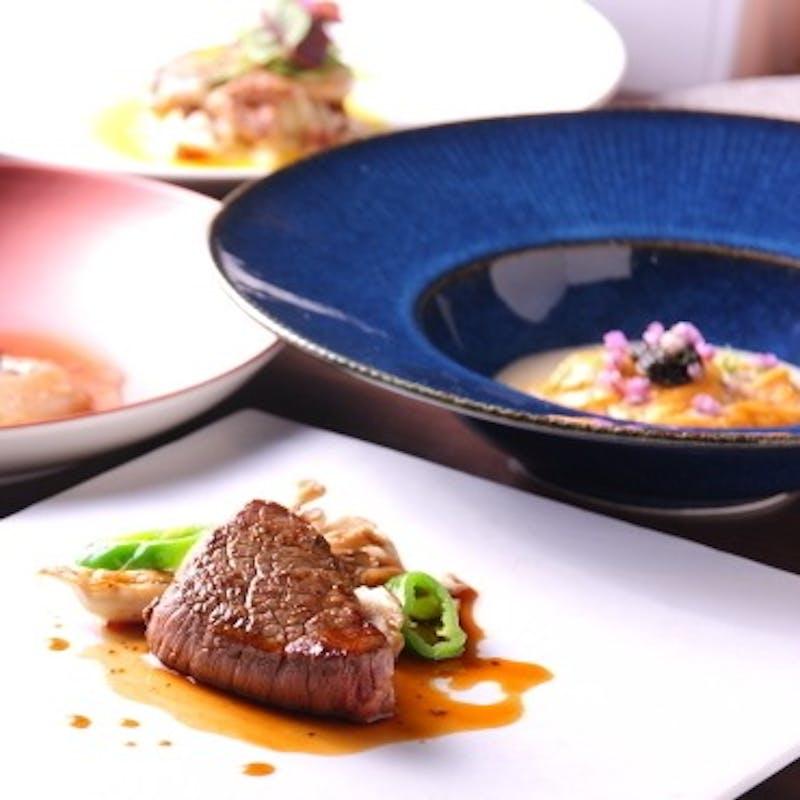 【豪華コース】三河湾産魚介、オマール海老等を含む全7品