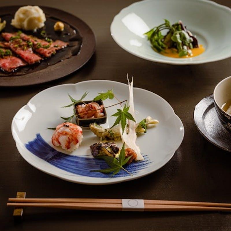 【季節のコース「極」】旬の食材を使用したお料理を堪能(夜のコースをランチでお試しいただけます!)