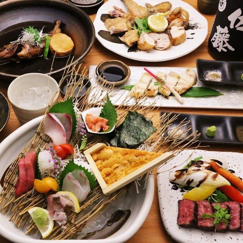 【大将おまかせコースC】高級食材をつかった魚介料理・椀物・お肉料理など