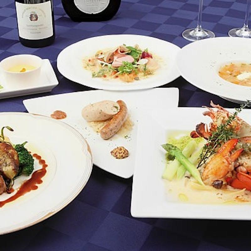 【アニバーサリーコース】乾杯スパークリング&お魚・お肉料理など全7品