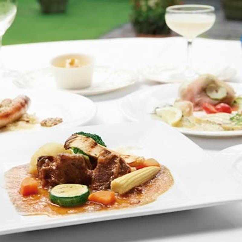 【アニバーサリーペアランチ】乾杯スパークリング&お魚・お肉料理など全7品