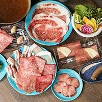 A5ランクの仙台牛、栄養価の高い新鮮野菜の数々をご堪能ください。