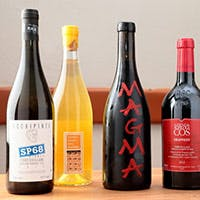 こだわりが見える種類豊富なワインの数々