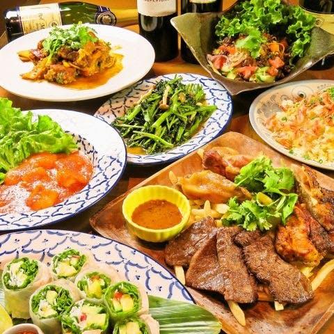 シェフ自慢のアジア各国料理