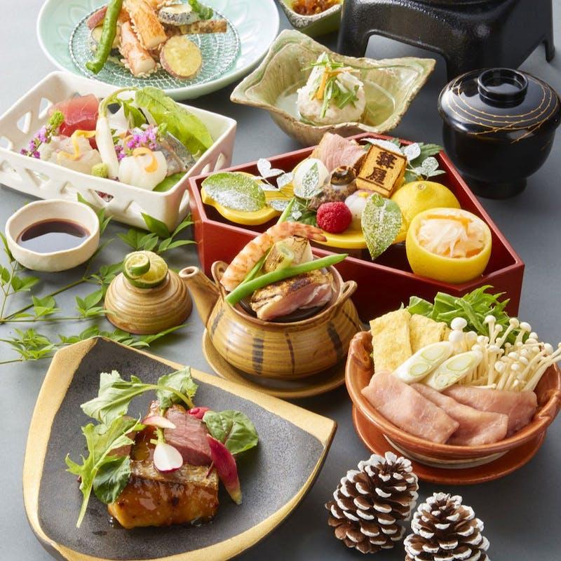 【奈良会席】奈良の高級食材を生かした彩り鮮やかなお料理全9品