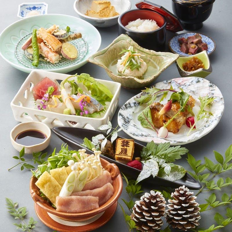【平城会席】奈良の季節の味覚を味わえる全8品