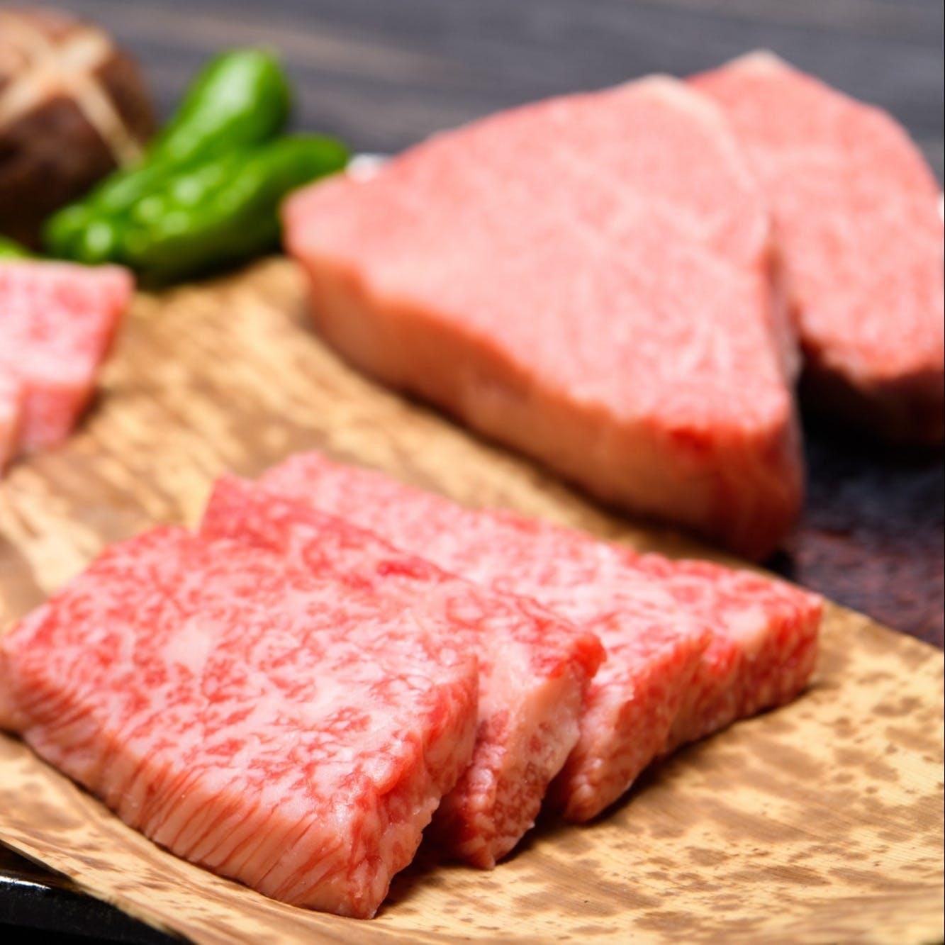 国産銘柄の上質なお肉を懐石仕立てで
