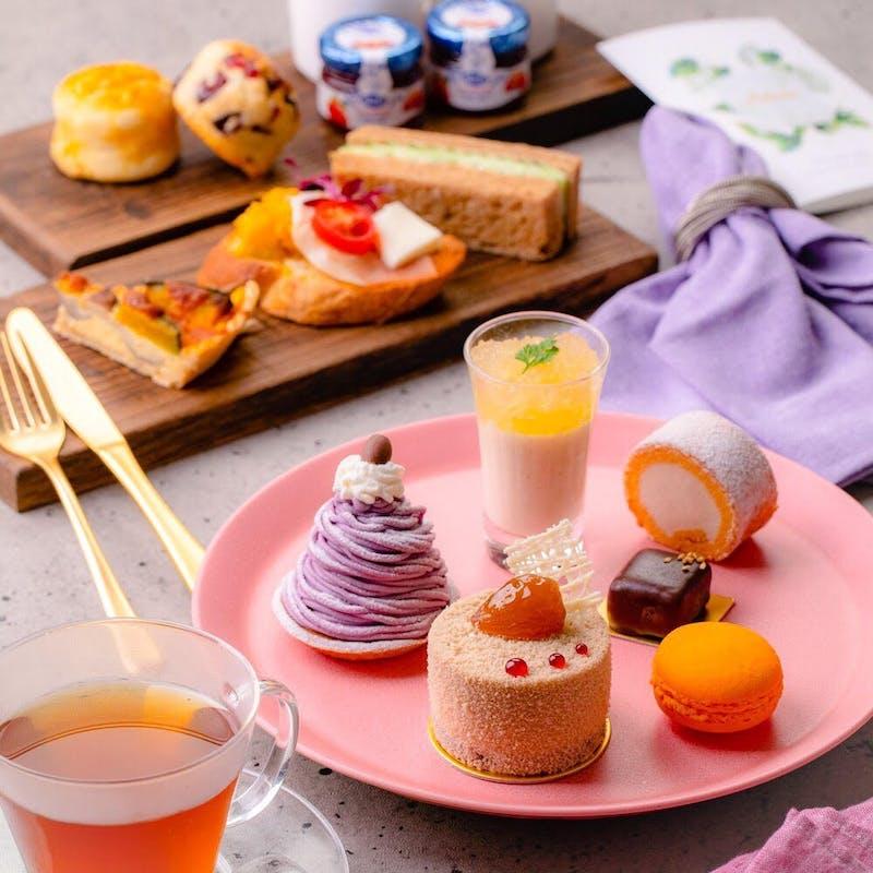 【秋の味覚が詰まったアフタヌーンティー】紅茶各種が楽しめるカフェフリー!