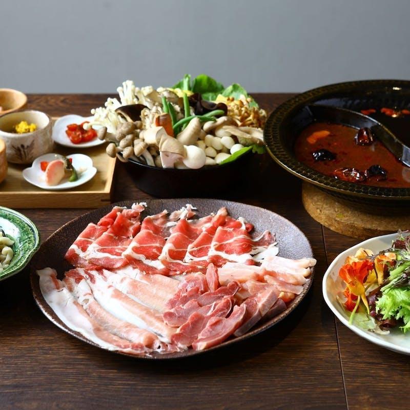 【一休限定コース】東京軍鶏、放牧短角牛、厳選きのこ、オーガニック野菜等全7品