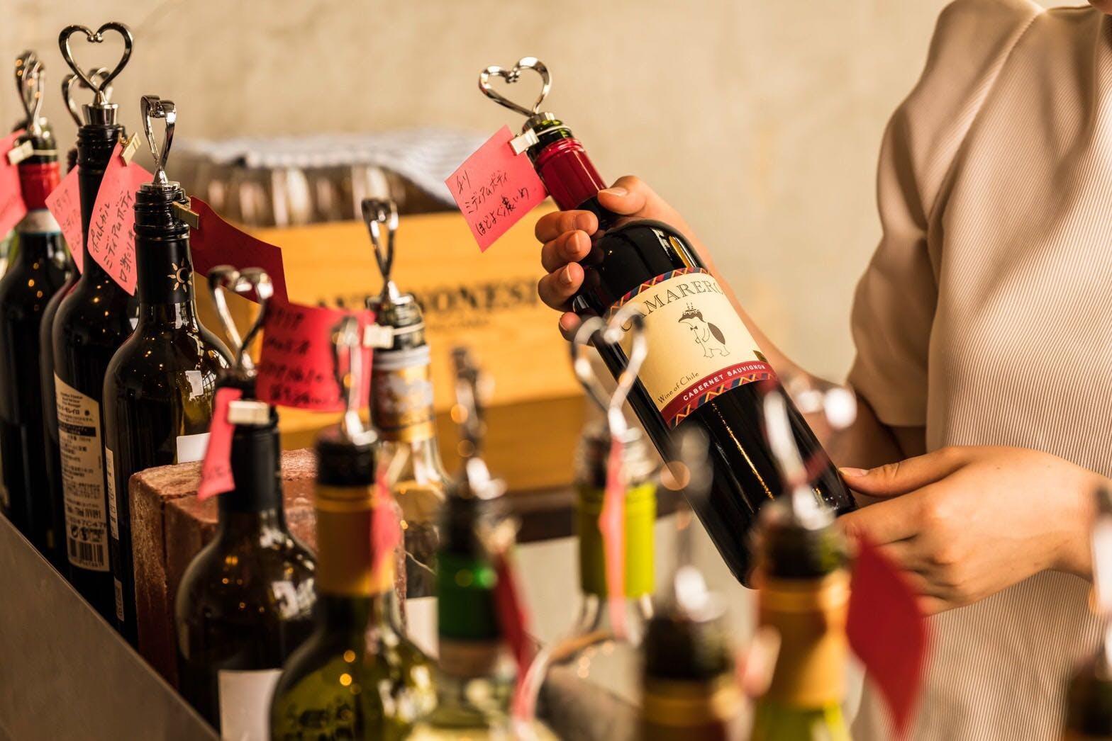 他では見られない!ビュッフェで楽しむ絶品ワイン