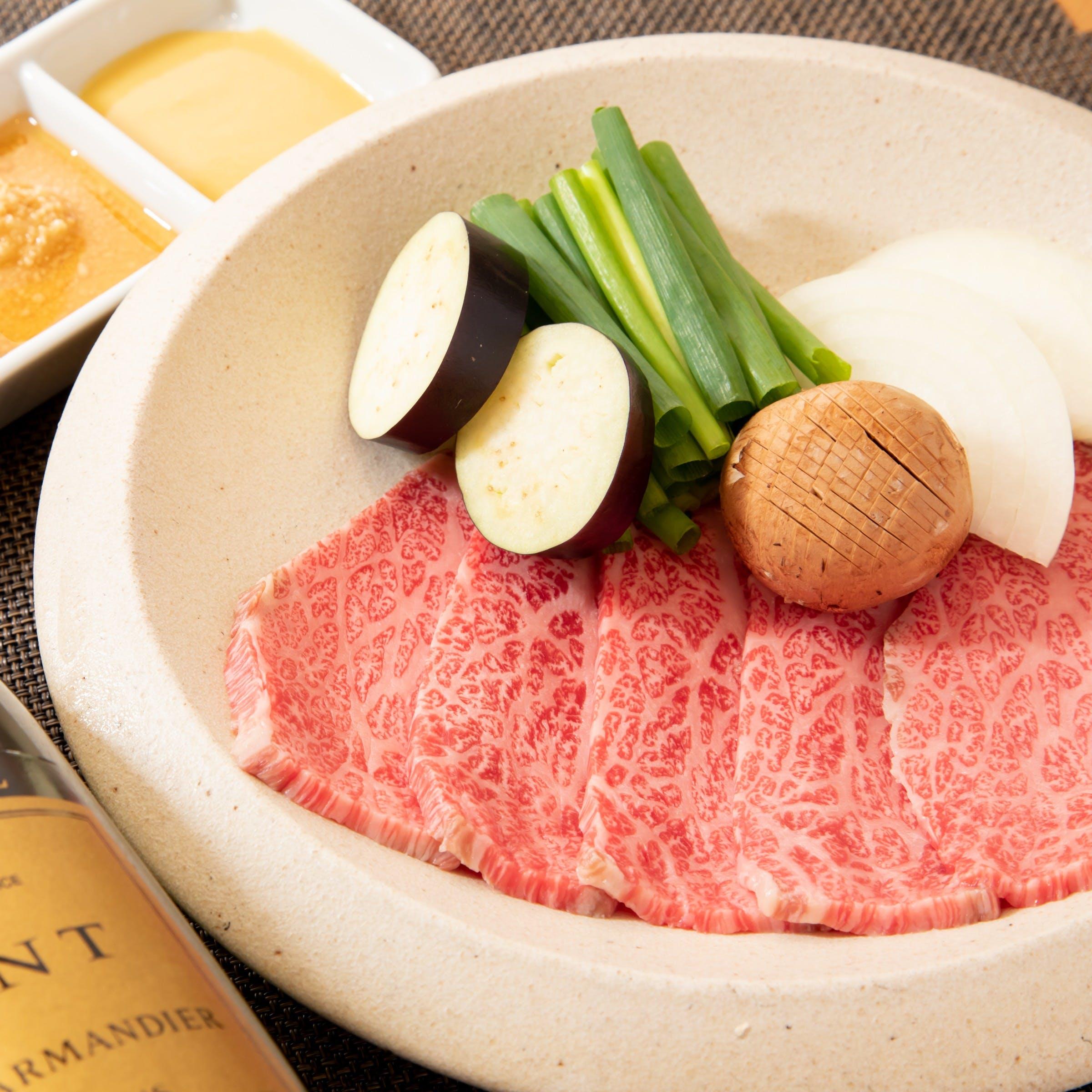 鉄板焼きだけではなく、和食も自慢です