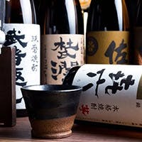 お店こだわりの焼酎と日本酒