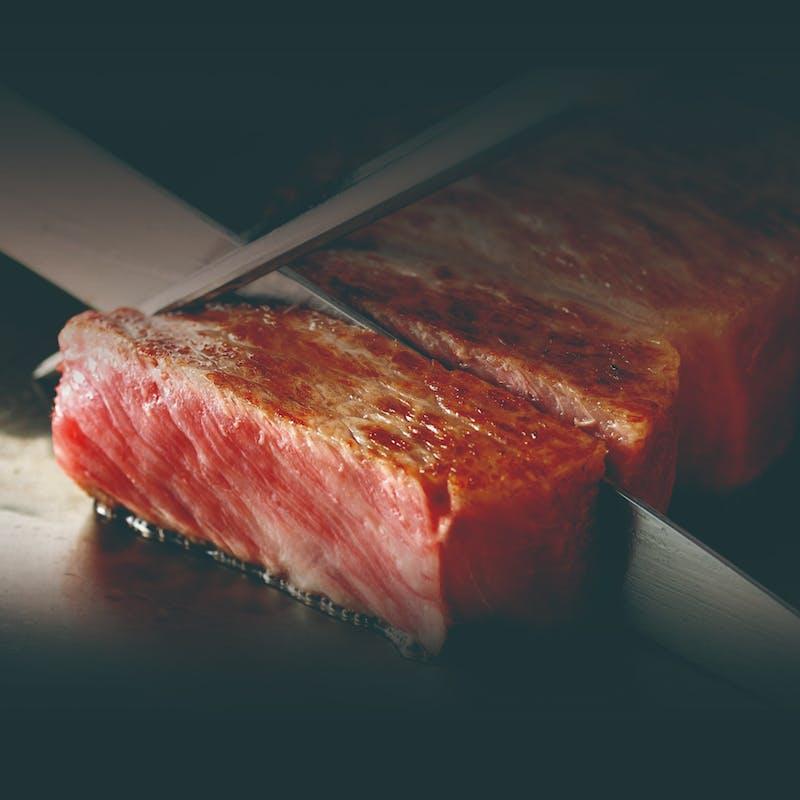 【神戸ビーフコース】世界の舌を魅了する神戸牛を目の前で+1ドリンク(神戸牛サーロイン130g)