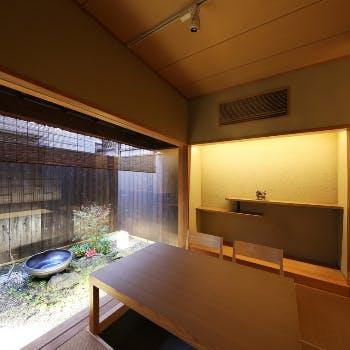 【予約の仮申込(リクエスト予約)】坪庭が見えるお座敷貸切!季節感じる日本料理~お顔合わせや法要に~