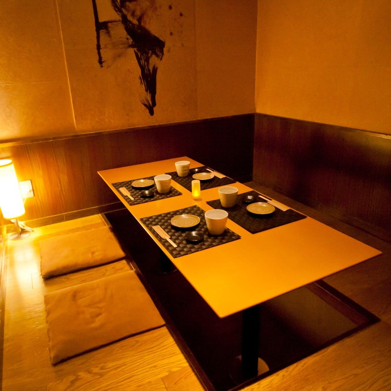 落ち着いた空間の個室