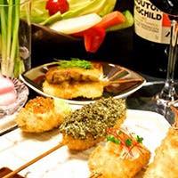串カツと美味しい地酒のマリアージュ
