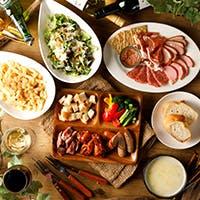 直火焼グリル料理とチーズ・種類豊富なワイン