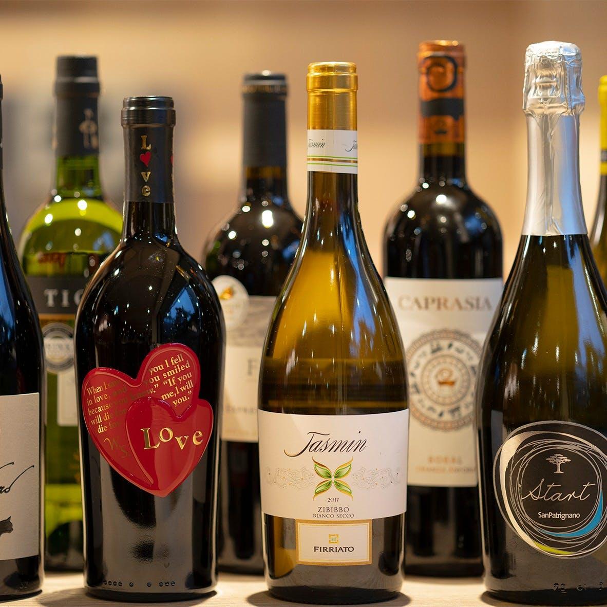 ソムリエによるご提案も。世界各国のBIOワインで乾杯!