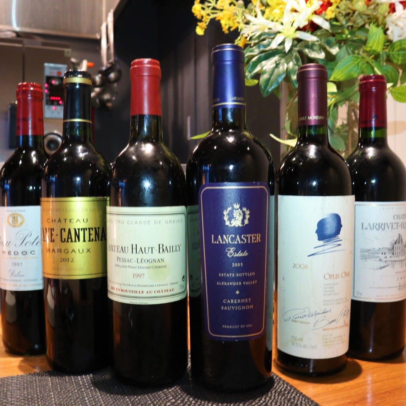 種類豊富なワインの数々
