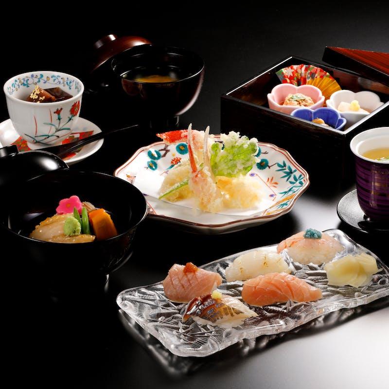 【弁慶寿司御膳】和食もお寿司も楽しめる御膳+食後のコーヒー
