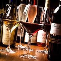 本格グリル料理とワイン