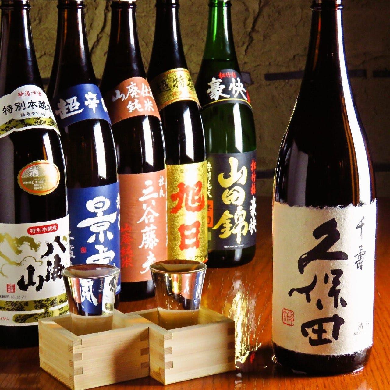 銘柄日本酒や焼酎も充実