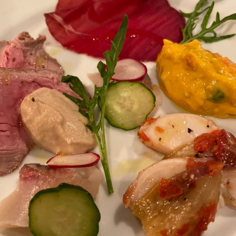 【PranzoA】前菜盛り合わせや選べる本日のパスタ、ドリンク含む 全2品