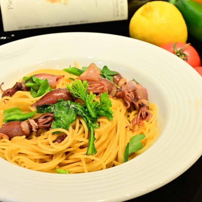 前菜・お野菜とお肉の炭焼き3種・パスタなど全5品+乾杯ドリンク