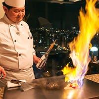 調理長選りすぐりの食材を目の前で焼き上げます