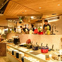 開放感あふれるオープンキッチン