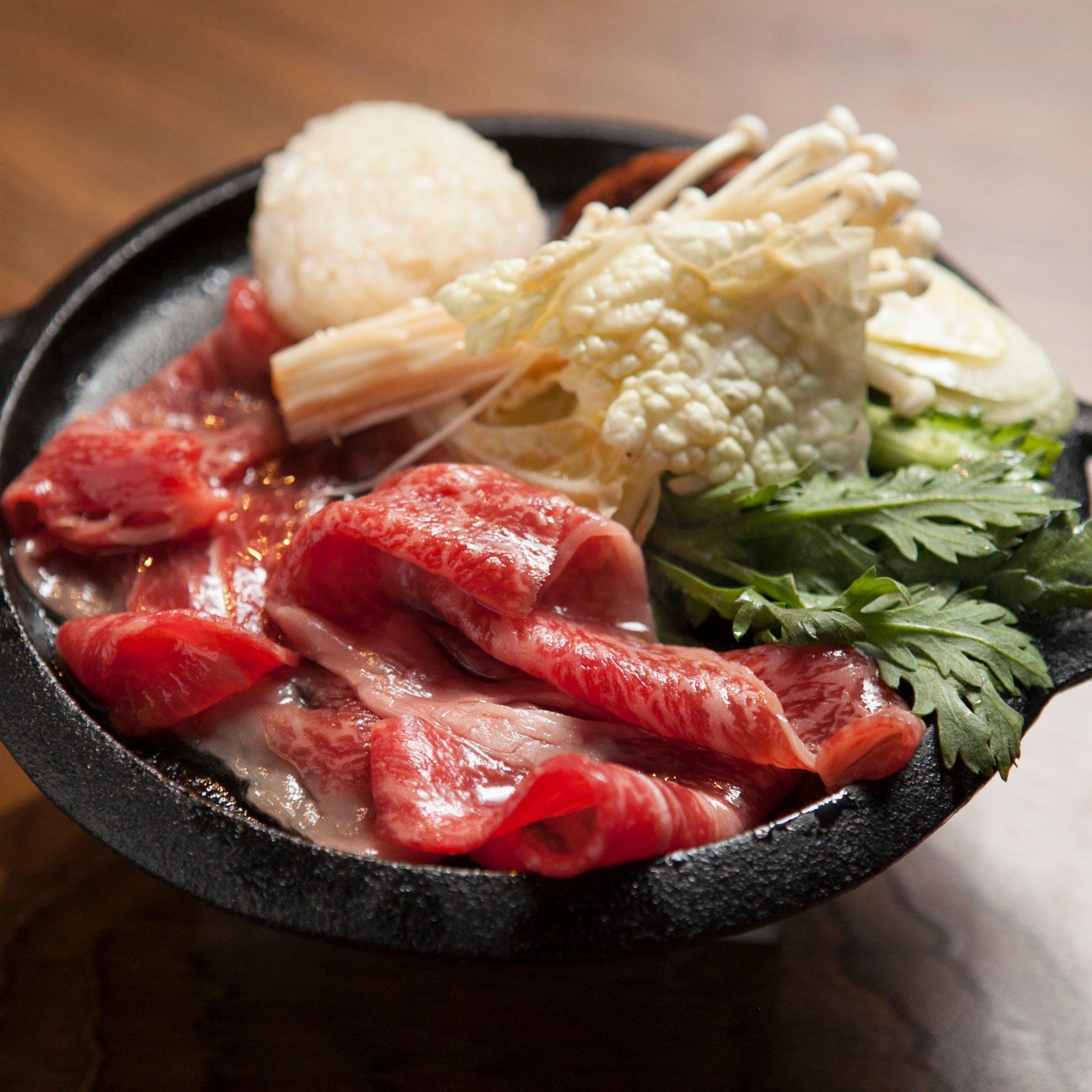 ダッチオーブンで食べる燻製すき焼き(夏季限定)