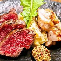 溶岩石グリルで焼き上げる極上のお肉