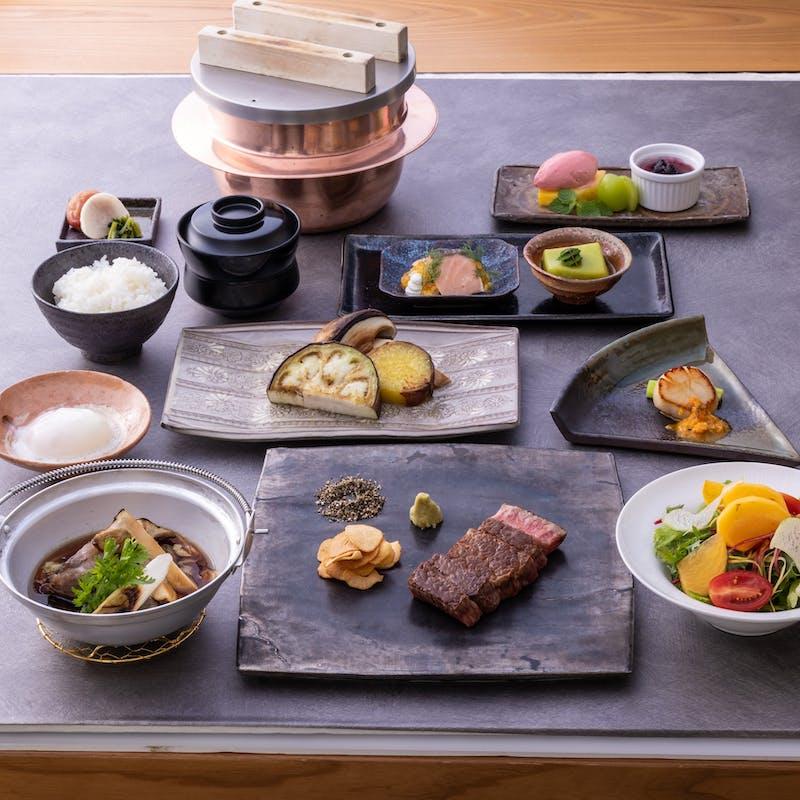 【雲霄】北海道産帆立貝柱、黒毛和牛すき焼き・松茸など全8品