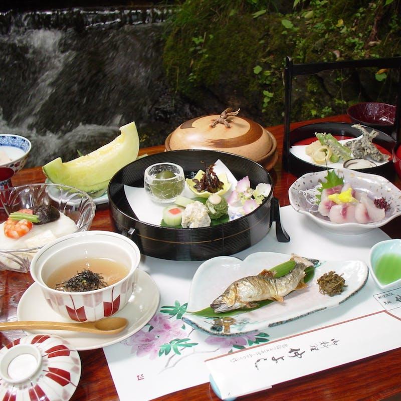 【松コース】先吸、焼物、変り鉢、天ぷら、水物など全11品(川床席確約)