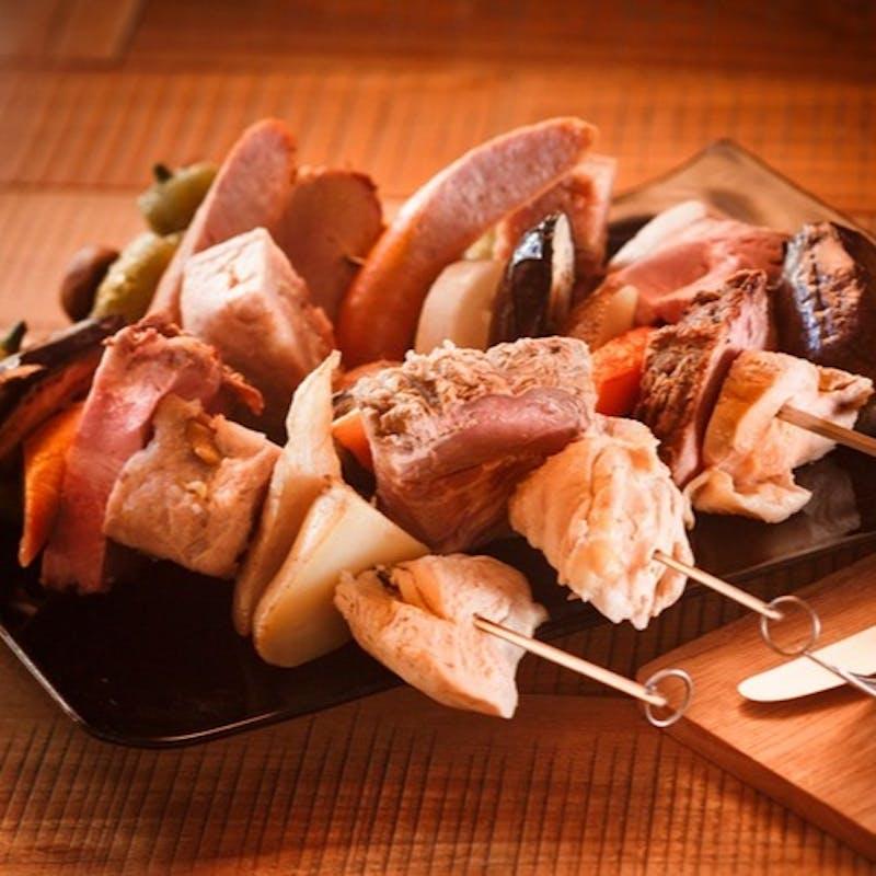 【2名様OK!】 熟成三元豚のグリルと前菜、パスタのライトコース全4品+乾杯ドリンク