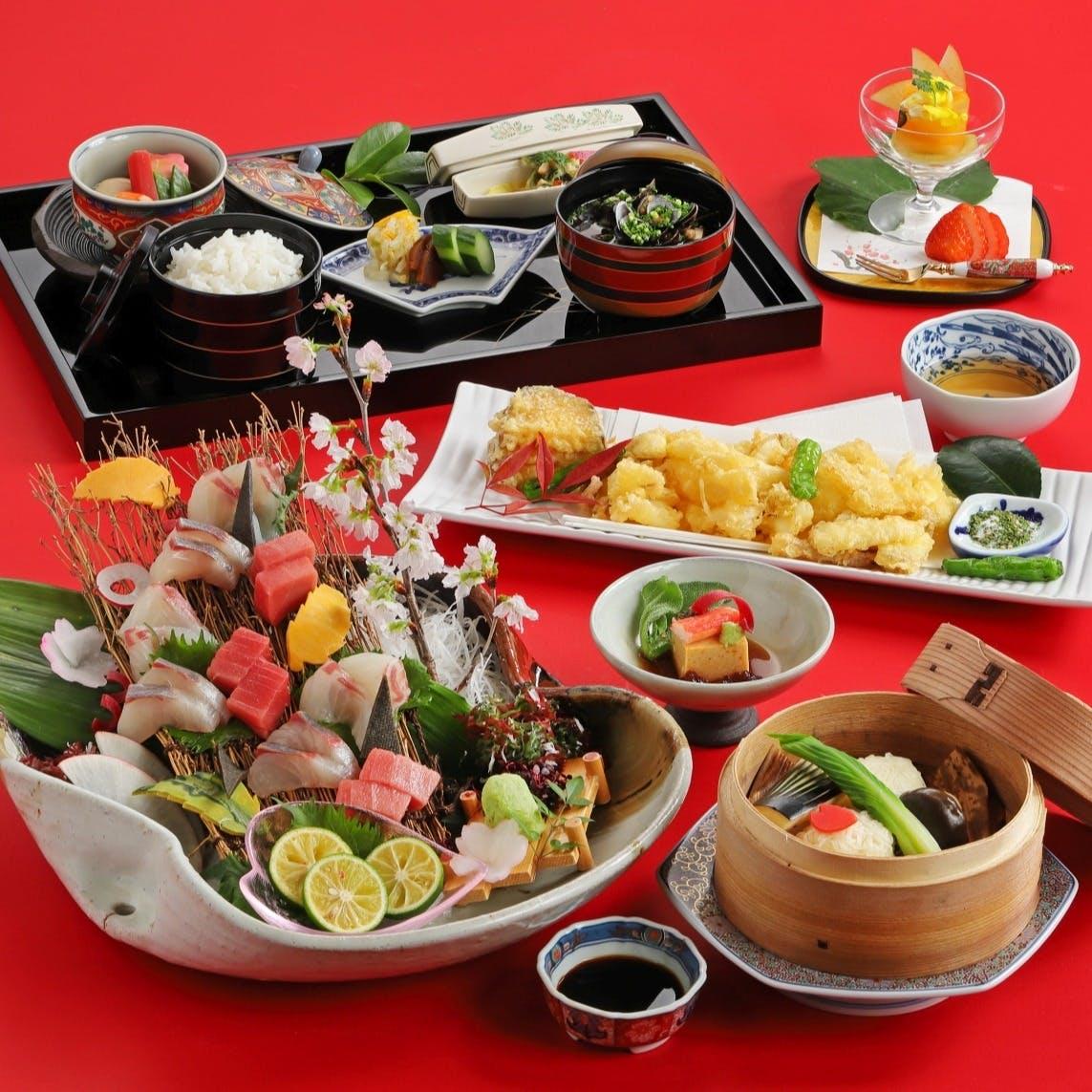 目で愉しむ、舌で愉しむ 慶園の料理