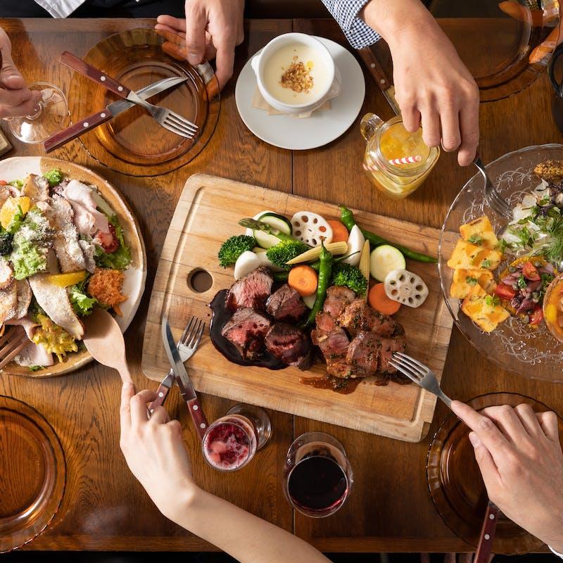 【ベーシックシェアコース「A」】肉料理など全7品