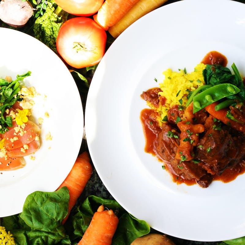 【農家野菜とビストロお肉料理のお昼ごはん】全3品(前菜とメインが選べる )